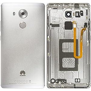Original Huawei Akkudeckel grey / grau für Huawei Mate 8 (Akkufachdeckel, Batterieabdeckung, Rückseite, Back-Cover)