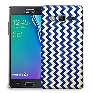 Snoogg navy blue waves 2501 Designer Protective Back Case Cover For Samsung Galaxy Tizen T3