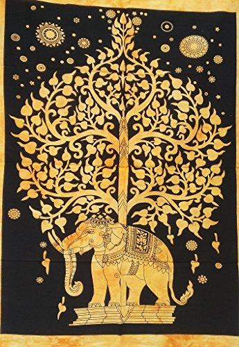 Árbol de la vida tapiz indio elefante tapices playa toalla Yoga Mat...