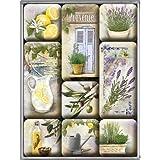 Nostalgic-Art 83068 Home und Country Mediterranean, Magnet-Set, 9-teilig