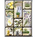 Nostalgic-Art 83068 Home & Country - Mediterranean, Magnet-Set (9teilig)