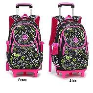 MAXYOYO Set de sacs scolaires noir black rose 2 wheels