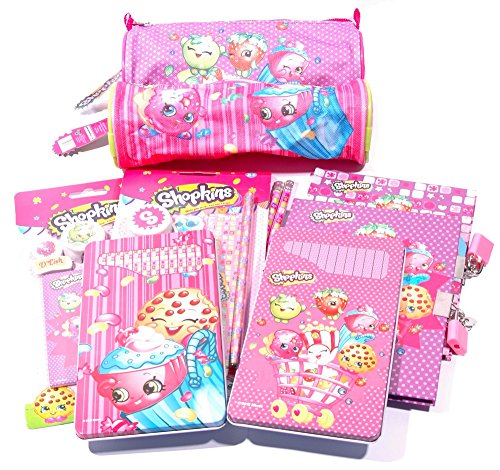 Shopkins Mega 38PC Bundle Character Stationery Set SCHOOL / PARTY BAGS / GIFT