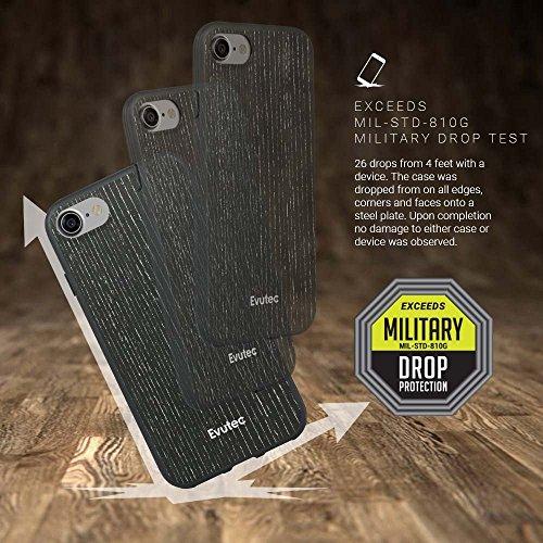 Evutec AER Bois résistant aux rayures mince fin et léger Coque de protection pour Apple iPhone 7-Abricot