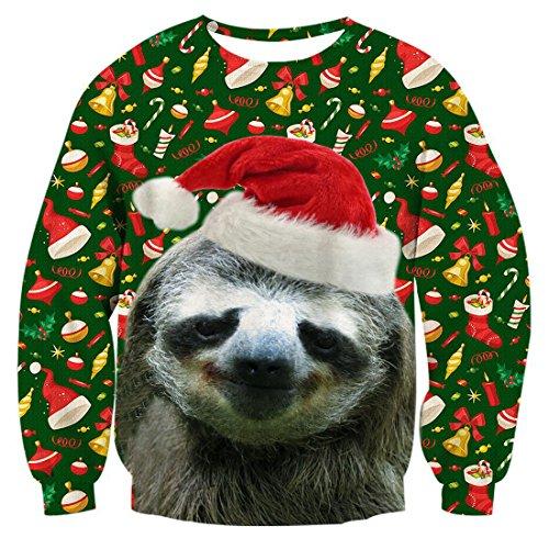 Bfustyle Herren Damen 3D Hässliche Weihnachtspullover Jumper Koala Gedruckte Pullover Sweatshirt Tops Für Jungen Mädchen M