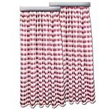 """SeGaTeX home fashion Dekoschal Küchengardine """"Melli in Rot"""" 2-er-Pack/Set mit Reihband Rot-Weiss-Kariert Vorhang Übergardine 145 x 140 cm"""