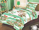 Hargunz Cotton Single Bedsheet with 1 Pi...