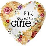 Alles Gute 25 XL Ø 45cm | Folien Ballon Zum 25. Geburtstag | Helium Geeignet