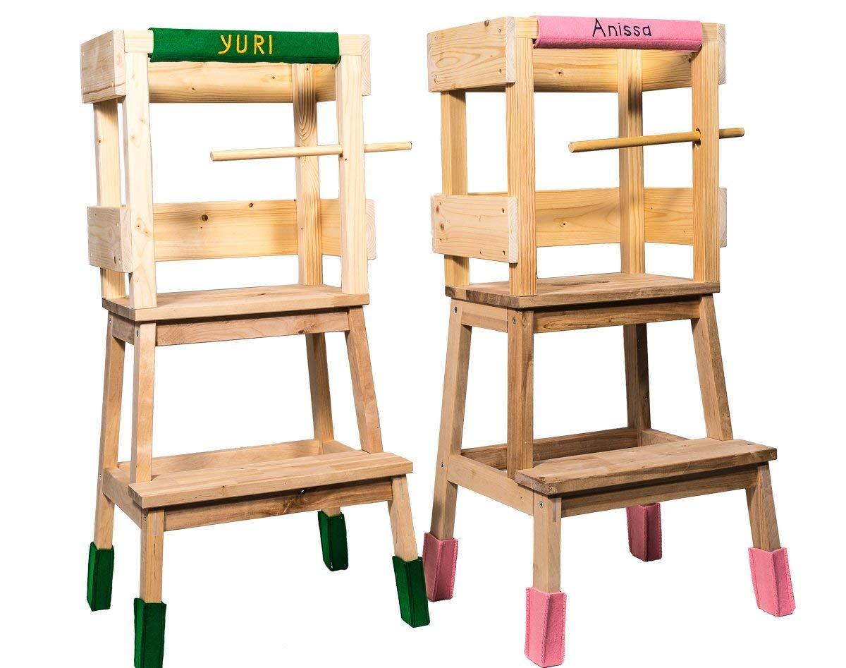 Deskiturm torre di apprendimento montessori con un set di