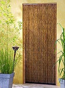 Leguana rideau de porte saigon en bambou xxl 115 x - Rideau de porte exterieur plastique ...