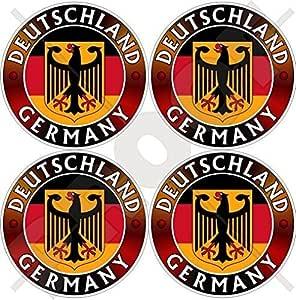 Deutschland Flagge Wappen Deutscher Adler Deutsch 50mm Auto Motorrad Aufkleber X4 Vinyl Sticker Garten