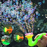 mAjglgE Blow Bubbles Toy,Creative Multi-Hole Trumpet Water Soap Blowing Bubbles Outdoor Kids Children Toy