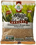 #4: 24 Mantra Organic Sonamasuri Raw Rice Brown Organic, 1kg