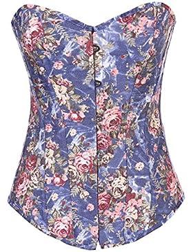 Impresión de flores femeninas de látex Cincher correa cintura cintura formador y Shaper