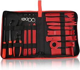 Auto Demontage Werkzeuge 19 Stück Zierleistenkeile Verkleidungs Reparatur Werkzeuge Nylon Universal für Innen-Verkleidung Ausbau,Auto Removal Reparatur Werkzeuge mit Reißverschlusstasche