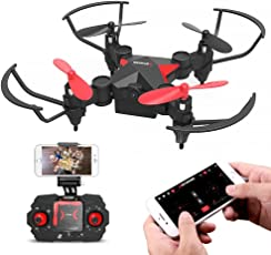 Metakoo Mini-Drohne für Kinder, WiFi-FPV HD Kamera, Höhenretention, 4 Kanäle 6-Achsen-Gyro, Headless-Modus, One-Key-Start/Landung / Rückkehr, Flug nach Flugbahn, Schwerkraftinduktion, 3D-Flips, M2