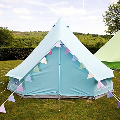 616lQhadlQL. SS500  - Boutique Camping Sky Blue Bell Tent With Zipped in Ground Sheet 4 Metre