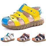 SMajong Sandalias Punta Cerrada para Niño Verano Playa Suave Zapatos de Niña Estilo Sandalias Ocasionales del