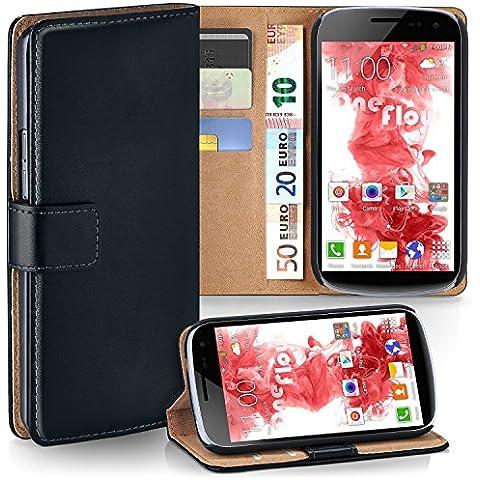 Bolso OneFlow para funda Samsung Galaxy Nexus Cubierta con tarjetero   Estuche Flip Case Funda móvil plegable   Bolso móvil funda protectora accesorios móvil protección paragolpes en Nero