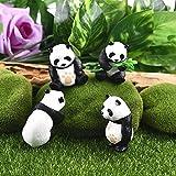 Neilyn 4 Teile/Satz Panda Moos Micro World Bonsai Kleine Ornamente Landschaft Miniatur Figuren Dekoration Zubehör