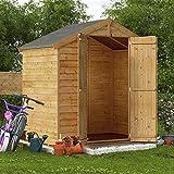 BillyOh 4x6 Keeper Overlap Windowless Garden Storage Wooden Shed Apex Roof & Felt 4ft x 6ft