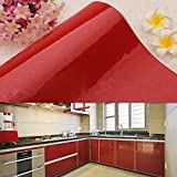yazi Wallpaper Sticker Removable Self Adhesive Mural refurbished stickers Kitchen Sliding Door Decor Gift 24x197in Glitter Red