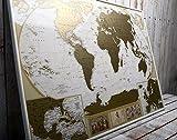 Mapamundi Deluxe «viaja y rasca», para rascar los lugares que has visitado, grande, con pines,...