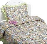 Jardín de la naturaleza de Claire Comforter Set, Multicolor, cama individual