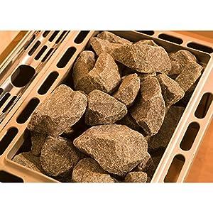 Diabas Saunasteine, echte, finnische Olivindiabas Natursteine ca. 12 kg