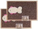 BPS 2Pcs Rascador Gatos Rascador de Cartón Juguetes Gatos Accesorio Ideal para Afile Las Uñas (2 Pcs 24x39cm) BPS-1853 * 2