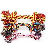 CAOQAO Chien Corde Jouets Tricot à Pet Rope Chew Toy Teaser Candy Color,Jouets à...