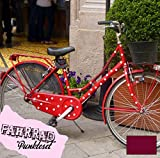 ilka parey wandtattoo-welt Fahrradaufkleber Set Punkte dots groß Fahrradsticker Aufkleber Fahrrad Design M681 - ausgewählte Farbe: *Beere*