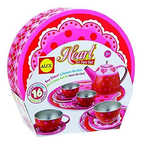 Alex Toys Pretend and Play Heart Tin Tea Set