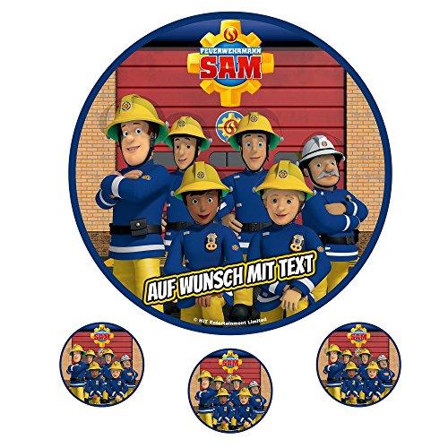 Tortenaufleger Fototorte Oblate Tortenbild Geburtstag eßbar Motiv: Feuerwehrmann Sam 08 (Zuckerpapier)