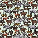 Fabulous Fabrics Sommersweat Stoff Safaritiere | by Poppy
