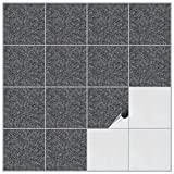 FoLIESEN Fliesenaufkleber für Bad und Küche - 15x15 cm - Dekor Granice - 20 Fliesensticker für Wandfliesen