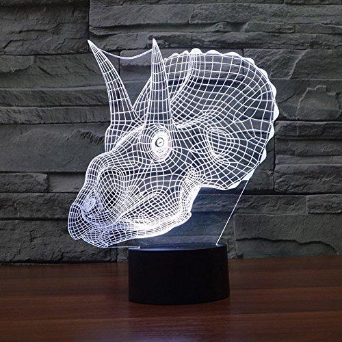 Preisvergleich Produktbild GBT 3D visuelle Lampe Optische Täuschung führte Nachtlicht, Erstaunliche 7 Farben Dinosaurier Form Touch Sensitive Switch Lampen mit Acryl flach, Abs Basis, Usb-Gebühr für Home Decor