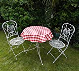 39 (1.0M) DIAMETER ROUND BISTRO PVC/VINYL TABLECLOTH - RED & WHITE GINGHAM CHECK by THE TABLECLOTH COMPANY