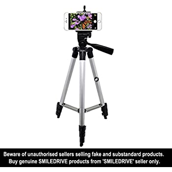 Smiledrive DSLR/Mobile/Gopro Action Camera/Digital3 Way Pan & Tilt Camera Travel Tripod(Multicolour)