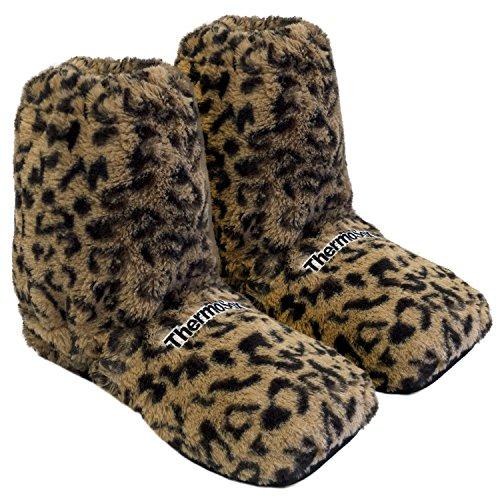 Original Thermo Sox Leopard Gr.M EU36-40 Sockenhoch aufheizbare Körnerpantoffel Wärmeschuhe Hausschuhe - Hausschuhe Kuscheligen