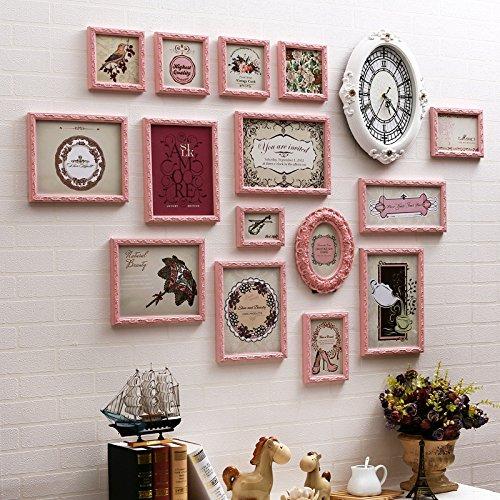 X&L Wand Foto Foto Wand Rahmen Wand unregelmäßig europäischen solide Holz Wohnzimmer Schlafzimmer kreative Portfolio Fotowand , 15 boxes full powder - 2