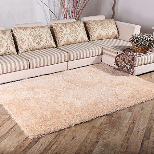 Tapis de salon Tapis de Chambre de tapis de salon de table basse de salon 6 Cm Tapis de soie extensible de chiffrage épais (taille : 140 * 200cm)