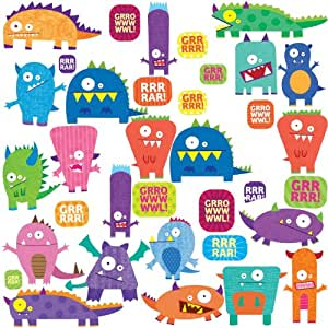 Roommates stickers muraux repositionnables enfant monstres - Stickers muraux repositionnables bebe ...