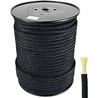 Polyesterseil mit Aramidkern Seil 8mm 100m Seil Geflochten Schwarz Aramidseil mit Polyester- Umflechtung
