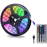 Gluckluz LED Lighting Strip TV Back Light 2M Strips Lights for Kitchen Hotel Home Theater HDTV Laptop PC Monitor, USB SMD 505