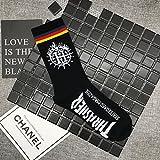 Wanglele Calcetines de algodón puro Hip Hop letras tubo...