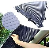 Bil vindruta solskydd, 46 cm automatisk infällbar vindruta visir UV-skydd solskydd värmeisolering för de flesta bilar