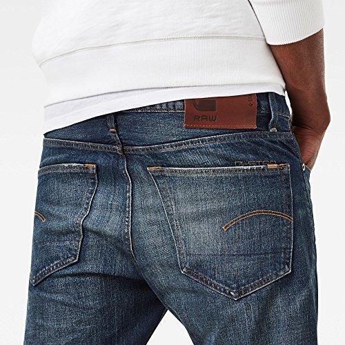 G-STAR RAW Herren Straight Jeans Blau (Dk Aged 89)