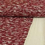 Sweatshirtstoff Wilde Streifen weinrot 180 cm breit