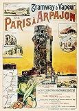 Poster, Vintageposter, Reiseplakat Frankreich-Von Paris nach Arpajon, Essonne, mit der Tram, von 1900, 250g/m², Hochglanz, Nachdruck, A3
